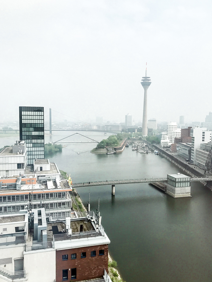 Dusseldorf architecture city guide. best architecture to see in Germany_view from HYATT REGENCY designed by JSK ARCHITECTS